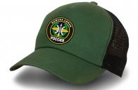 Зеленая бейсболка военного связиста
