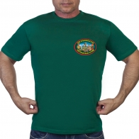 """Зелёная футболка """"129 Пржевальский погранотряд"""""""