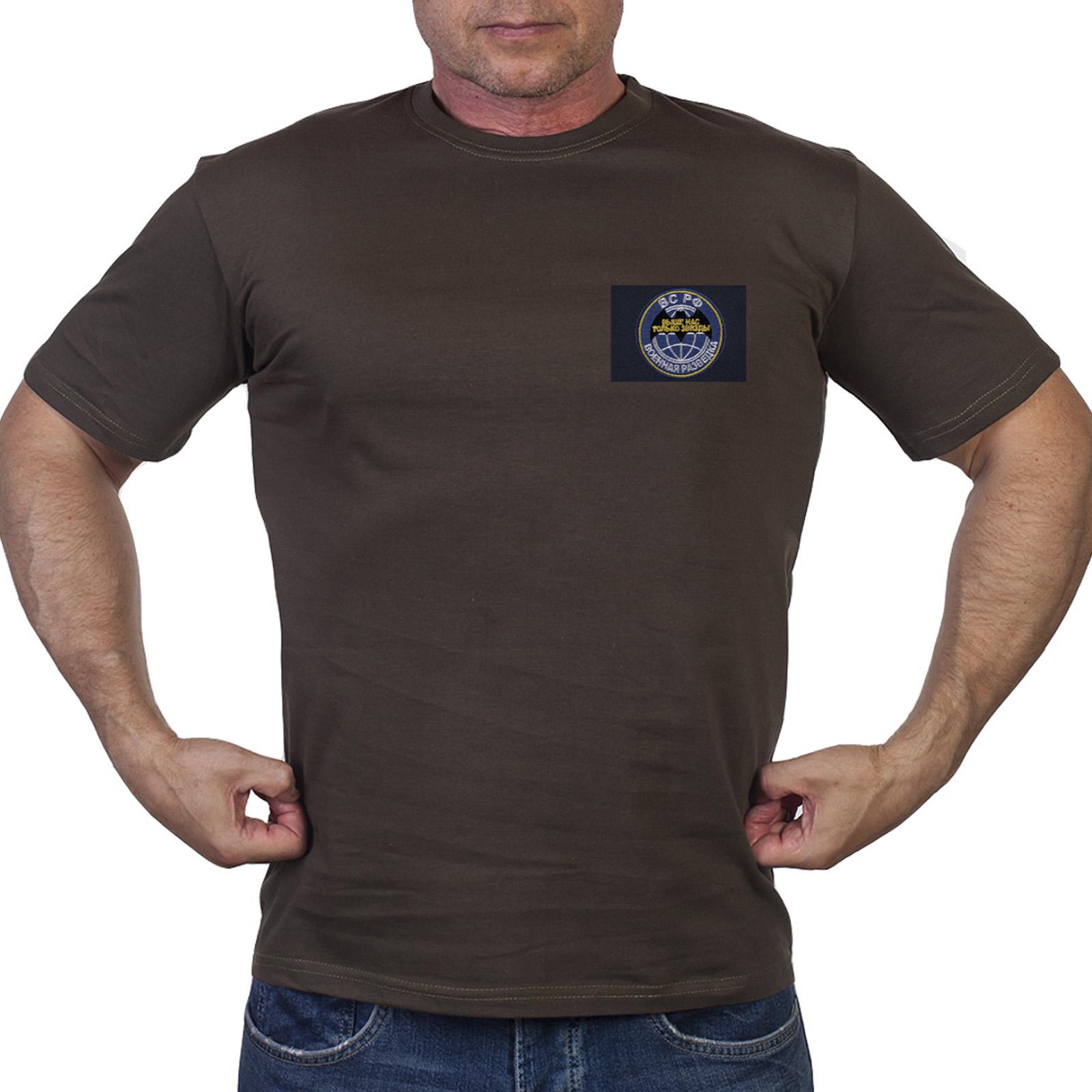 Зеленая мужская футболка Военная разведка