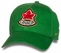 Зеленая кепка CANADA