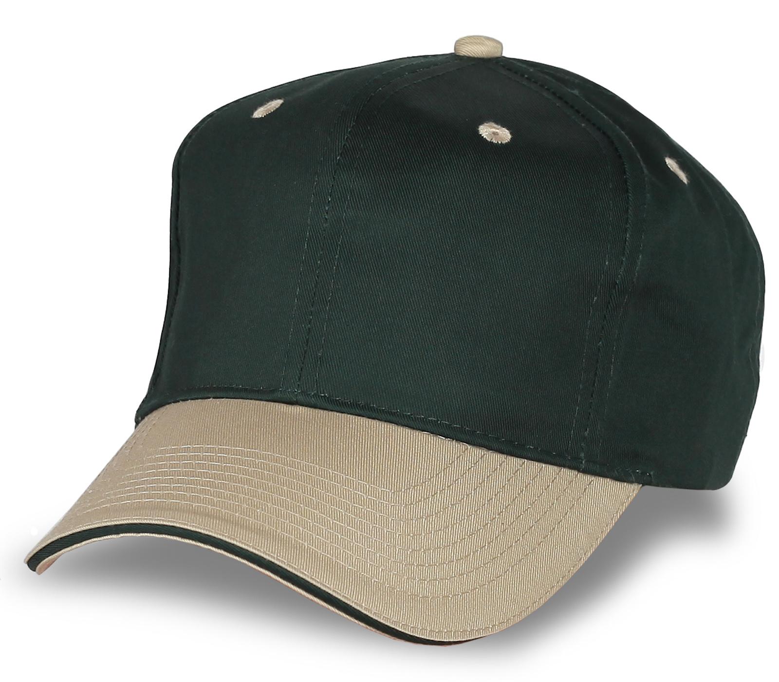 Зелёная кепка под нанесение фирменной символики