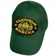 Зелёная кепка с нашивкой Танковые войска