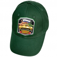 Зелёная кепка с термопринтом Танковые войска