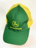 Зеленая летняя бейсболка John Deere с желтой сеткой