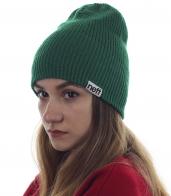 Зеленая шапочка Neff для девушек, любящих гармонию в душе и одежде. Практичный головной убор на все случаи жизни