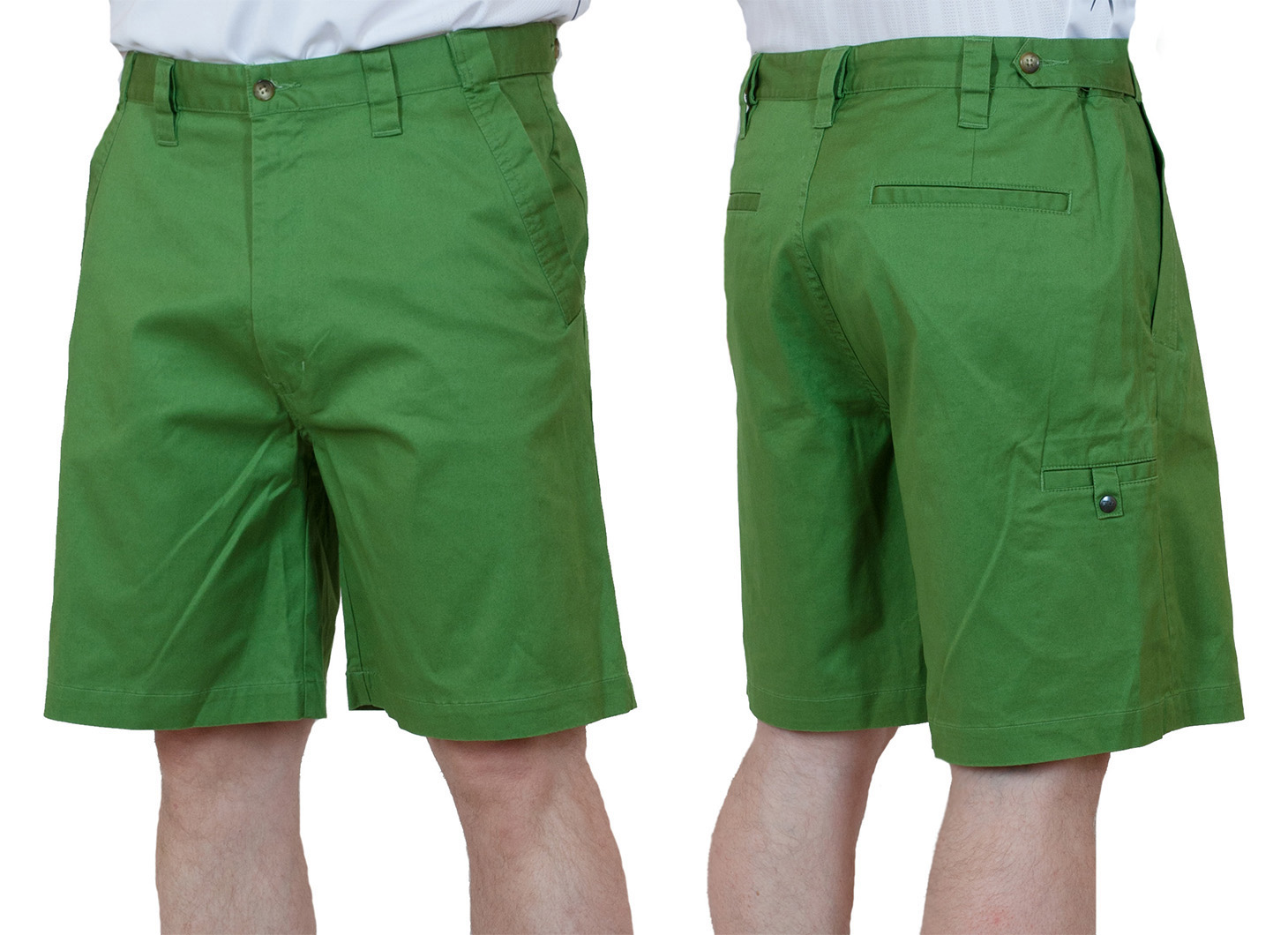 Заказать хлопчатобумажные зеленые мужские шорты