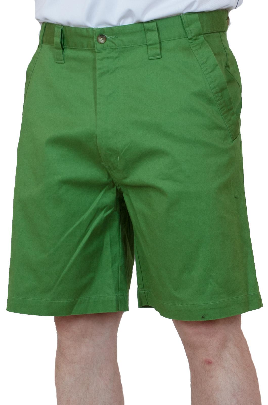 Хлопчатобумажные зеленые мужские шорты
