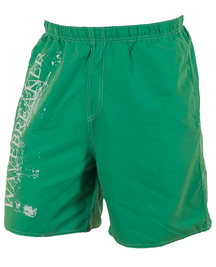 Зелёные мужские шорты Wave Breaker с принтом