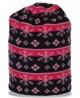 Жаккардовая удлиненная женская шапка от Sunfanic