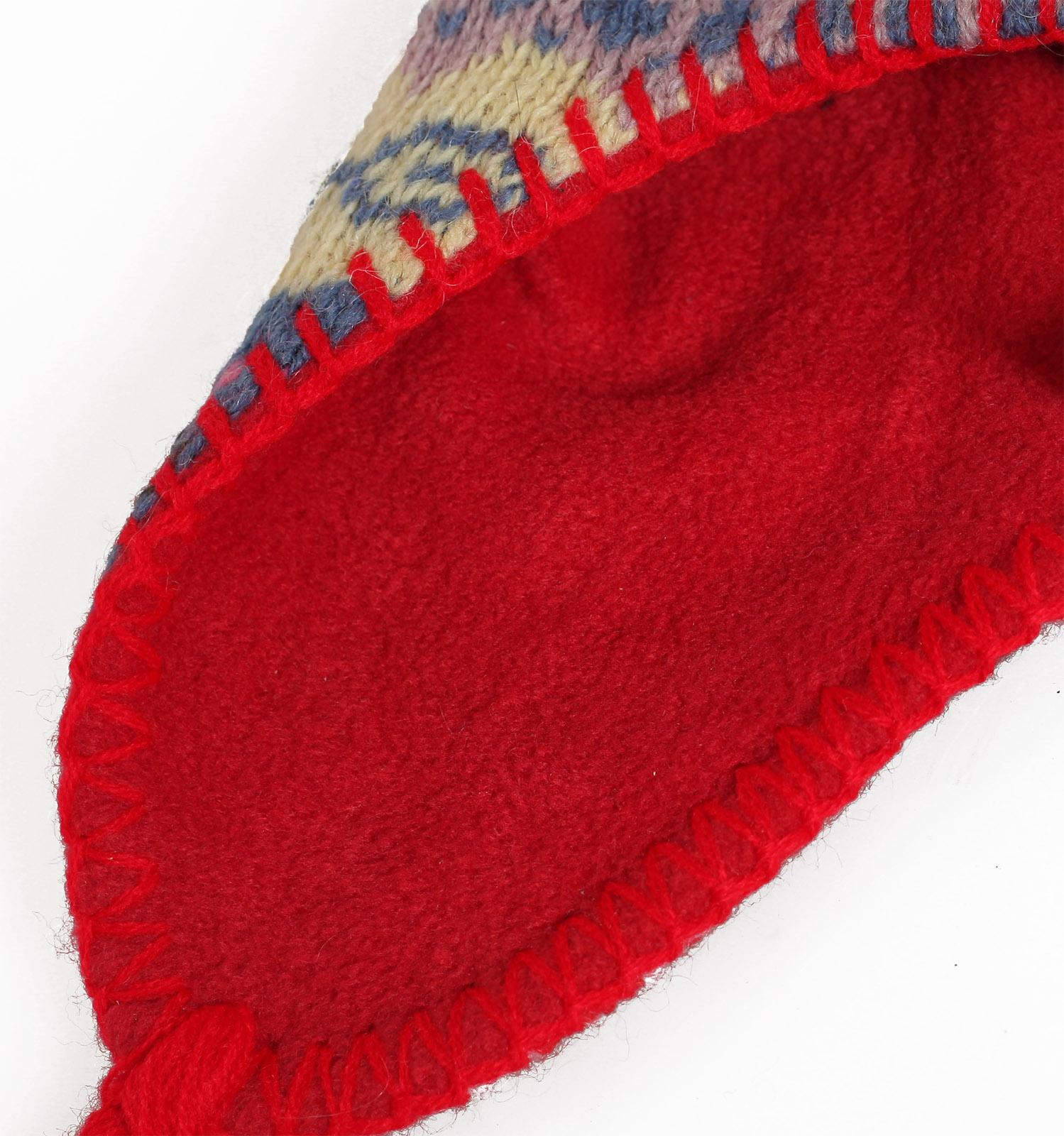 Купить жаккардовую зимнюю глубокую женскую шапку утепленную флисом по низкой цене