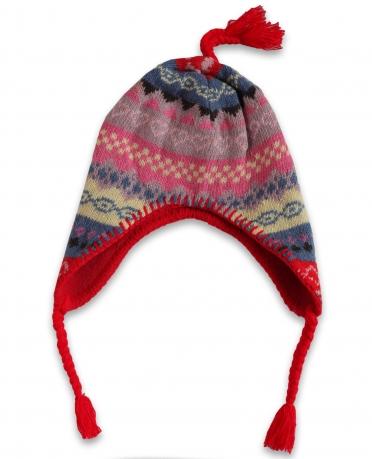 Жаккардовая зимняя женская шапка утепленная флисом