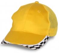 Желтая бейсболка под нанесение авто логотипов
