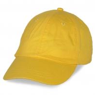 Желтая бейсболка под нанесение логотипов
