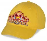 Желтая хлопковая бейсболка Russia