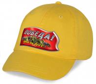 Желтая хлопковая бейсболка с авторским принтом Победа - душевная вещь в Ваш гардероб. Она на всех мероприятиях украсит Ваш образ патриота. Спешите купить!