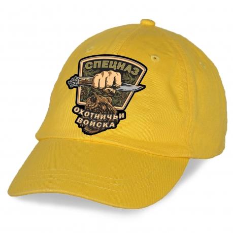 """Купить желтую кепку с нашивкой """"Охотничий спецназ"""""""