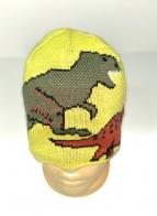 Желтая шапка с динозаврами