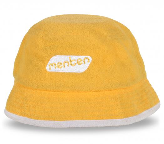 Желтая шляпа с надписью Menten