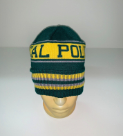 Желто-зеленая стильная шапка