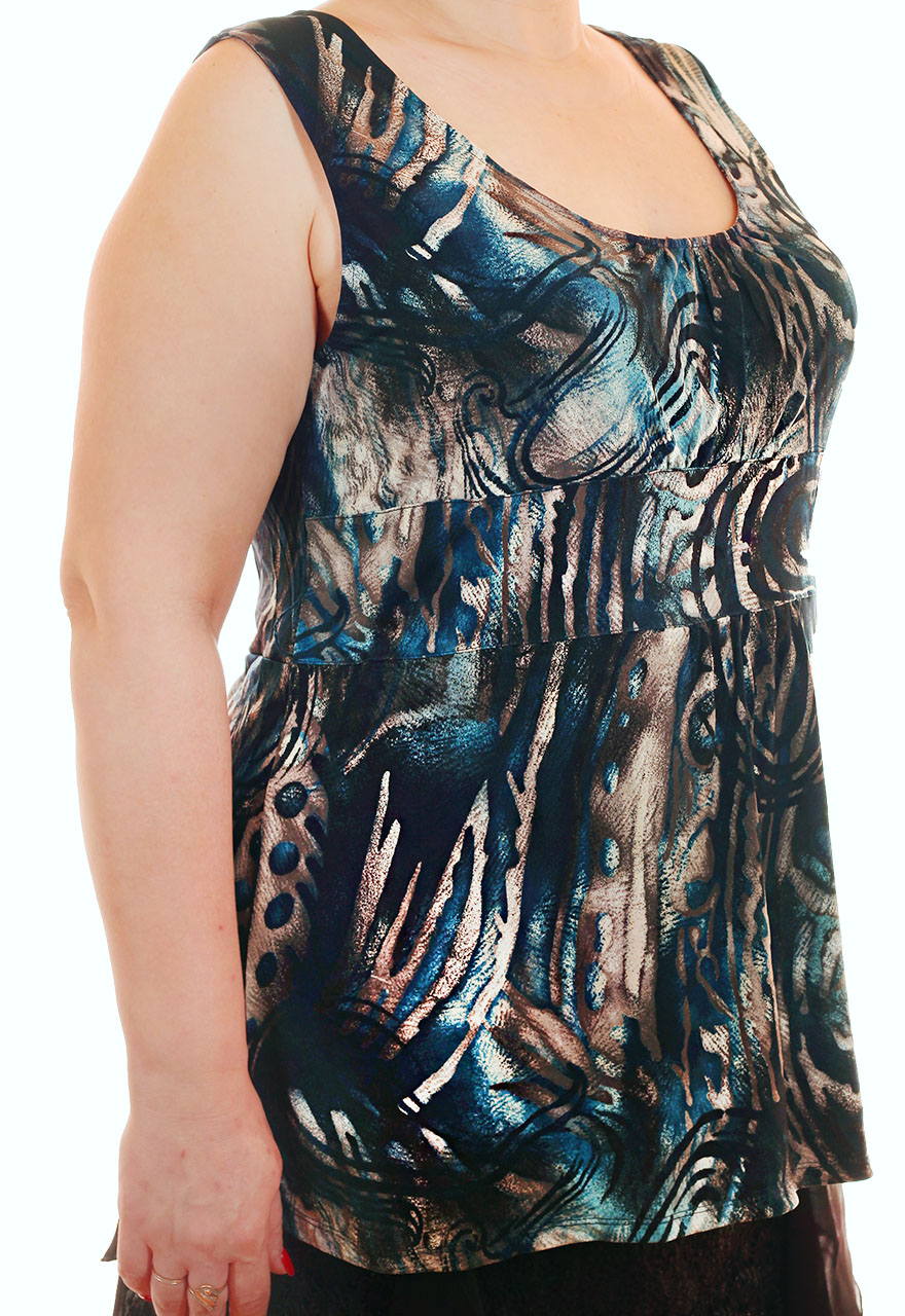 Женская кофта с радужным принтом