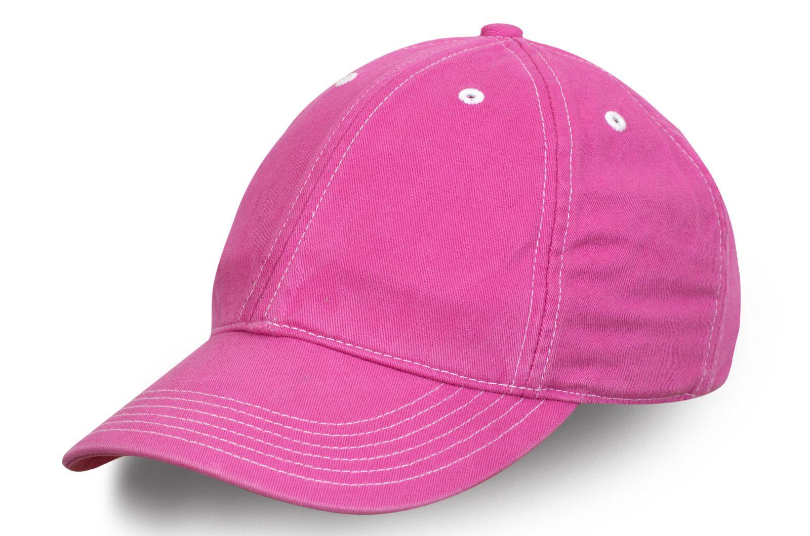 Женская бейсболка розового цвета