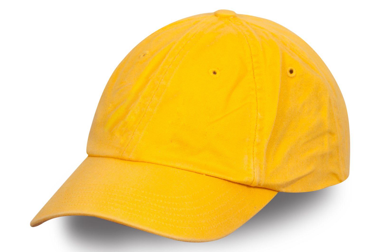Женская бейсболка желтая