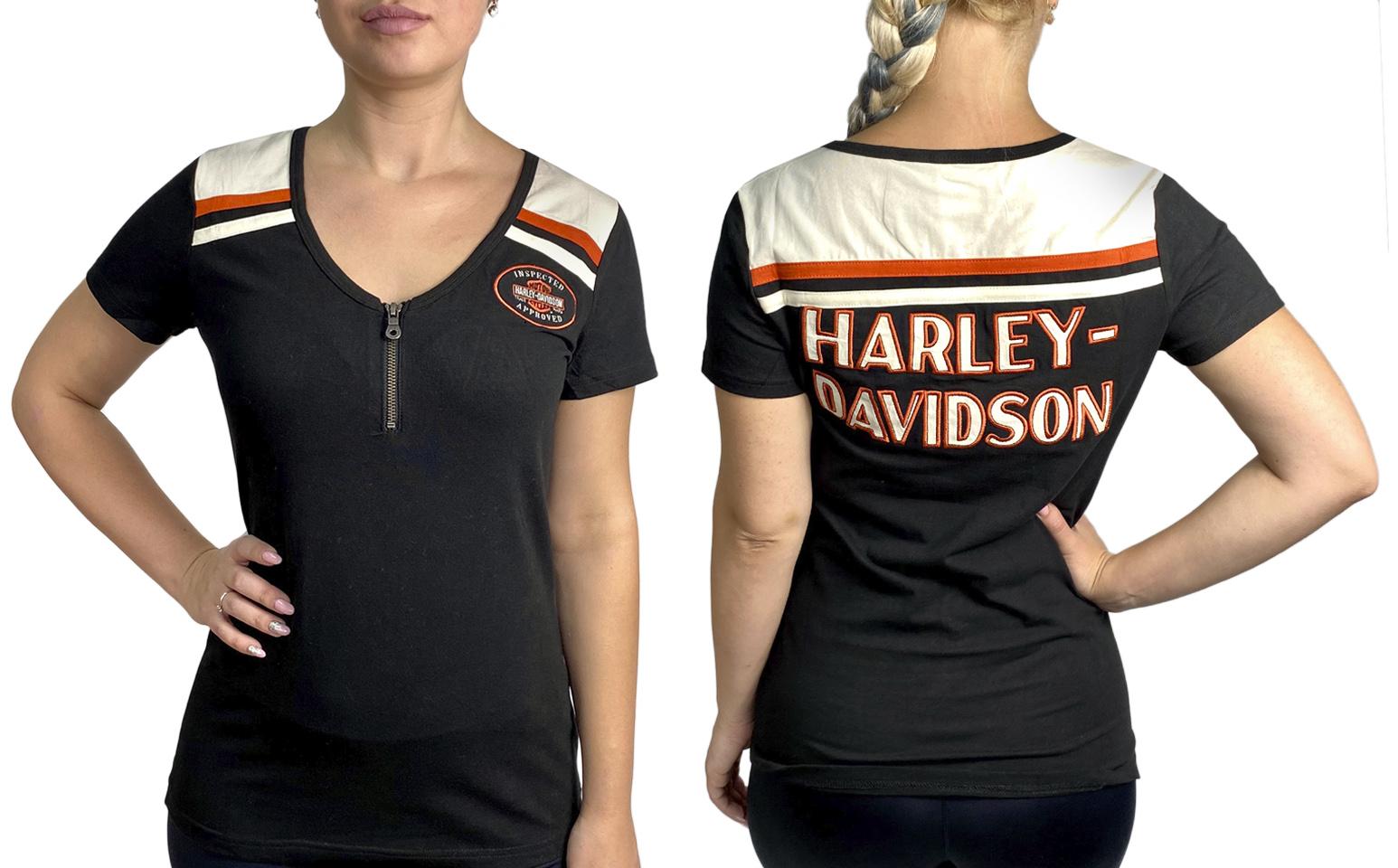 Женская брендовая футболка Harley-Davidson