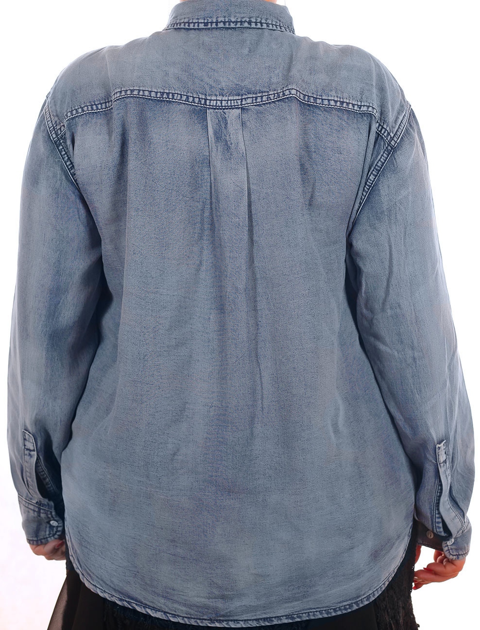 Женская джинсовая рубашка Sheego Denim (Германия) – яркий повседневный образ. БОЛЬШИЕ размеры