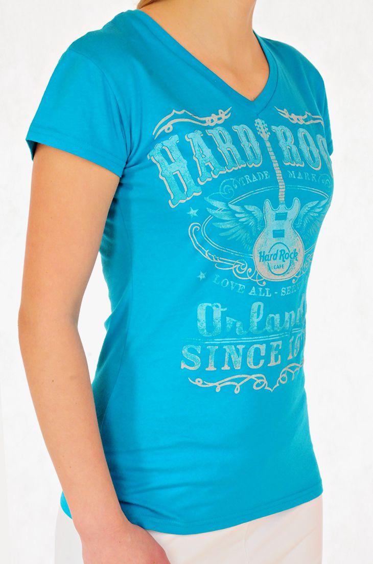 Женская футболка от Hard Rock® для стильных девушек - вид сбоку