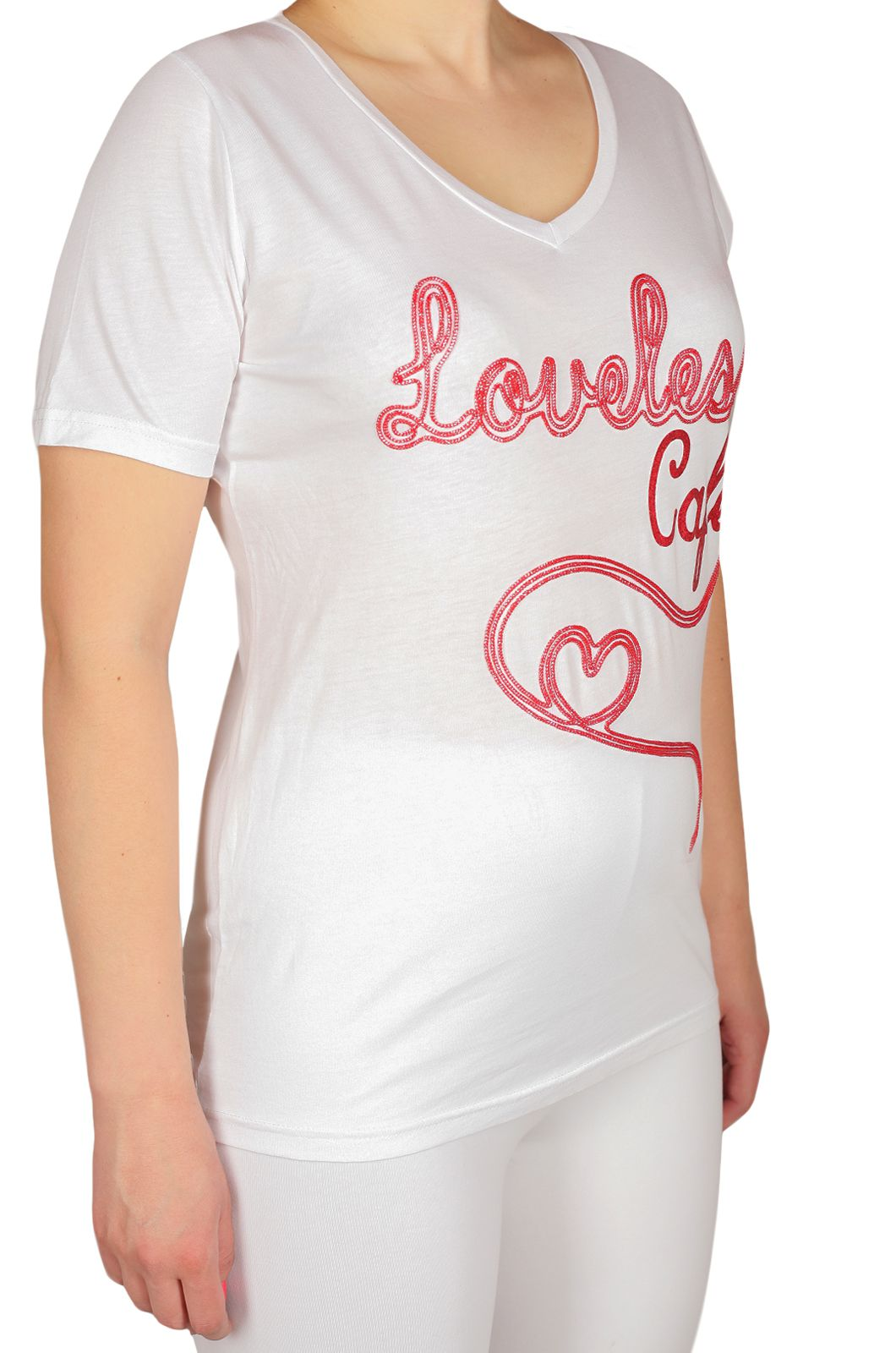 Женская футболка от Loveless Cafe (США) - КОЛЛЕКЦИЯ 2017 - вид сбоку