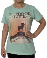 Женская футболка Outdoor Life с принтом