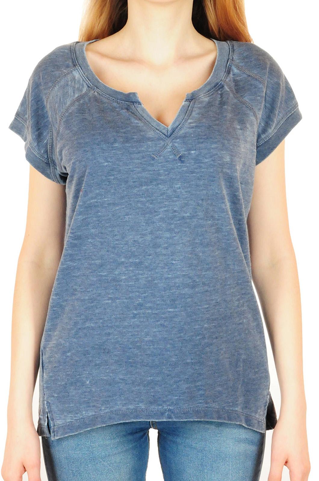 Женская футболка TE VERDE в стиле инди-рок. Модный оттенок «милори»