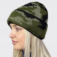 Женская камуфляжная шапка