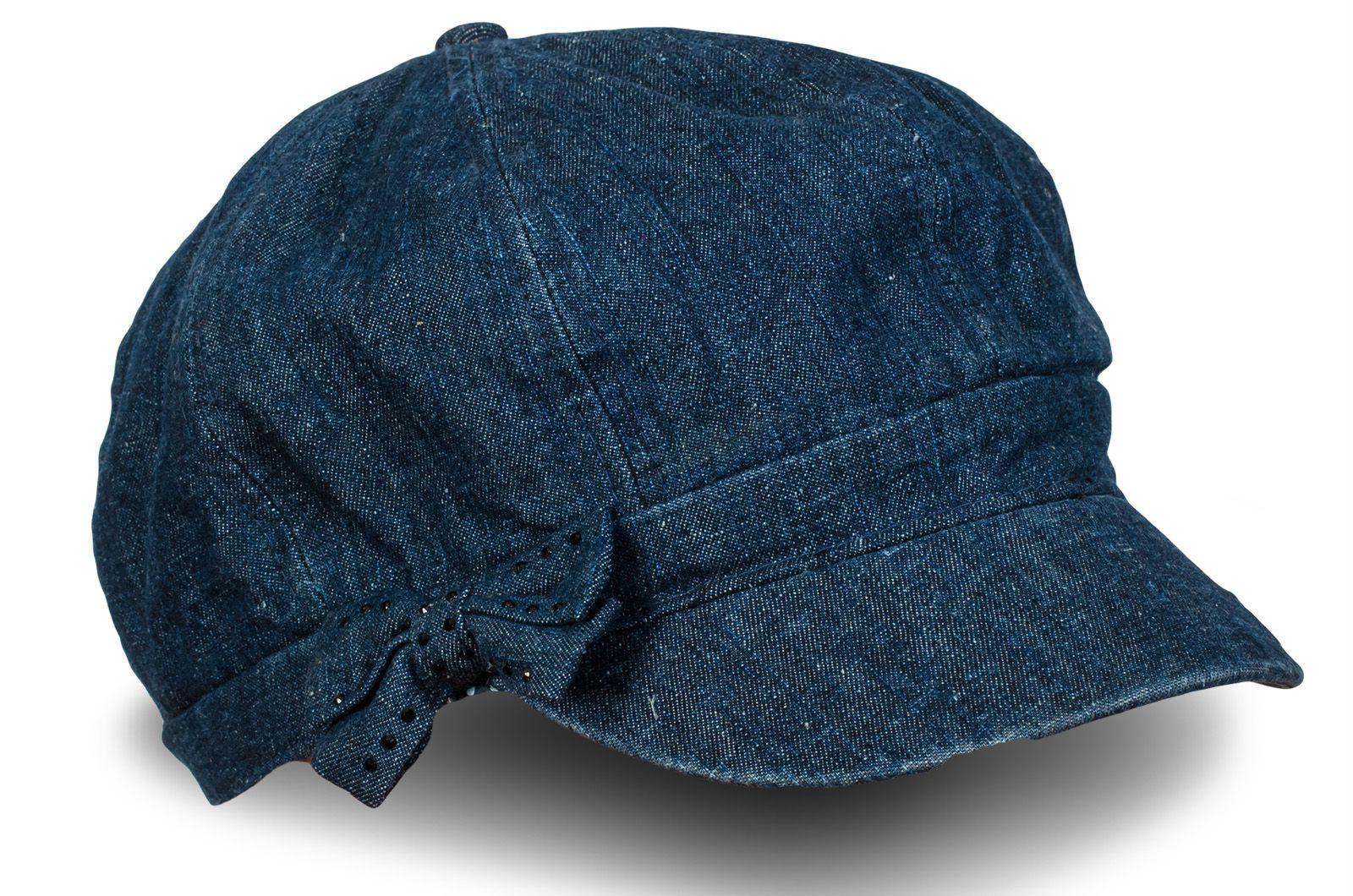 Женская кепка синий меланж - купить с доставкой