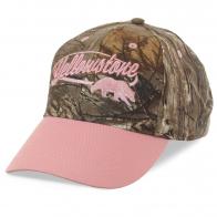 Модная женская кепка Yellowstone – кокетливое сочетание розового гламура и камуфляжного принта