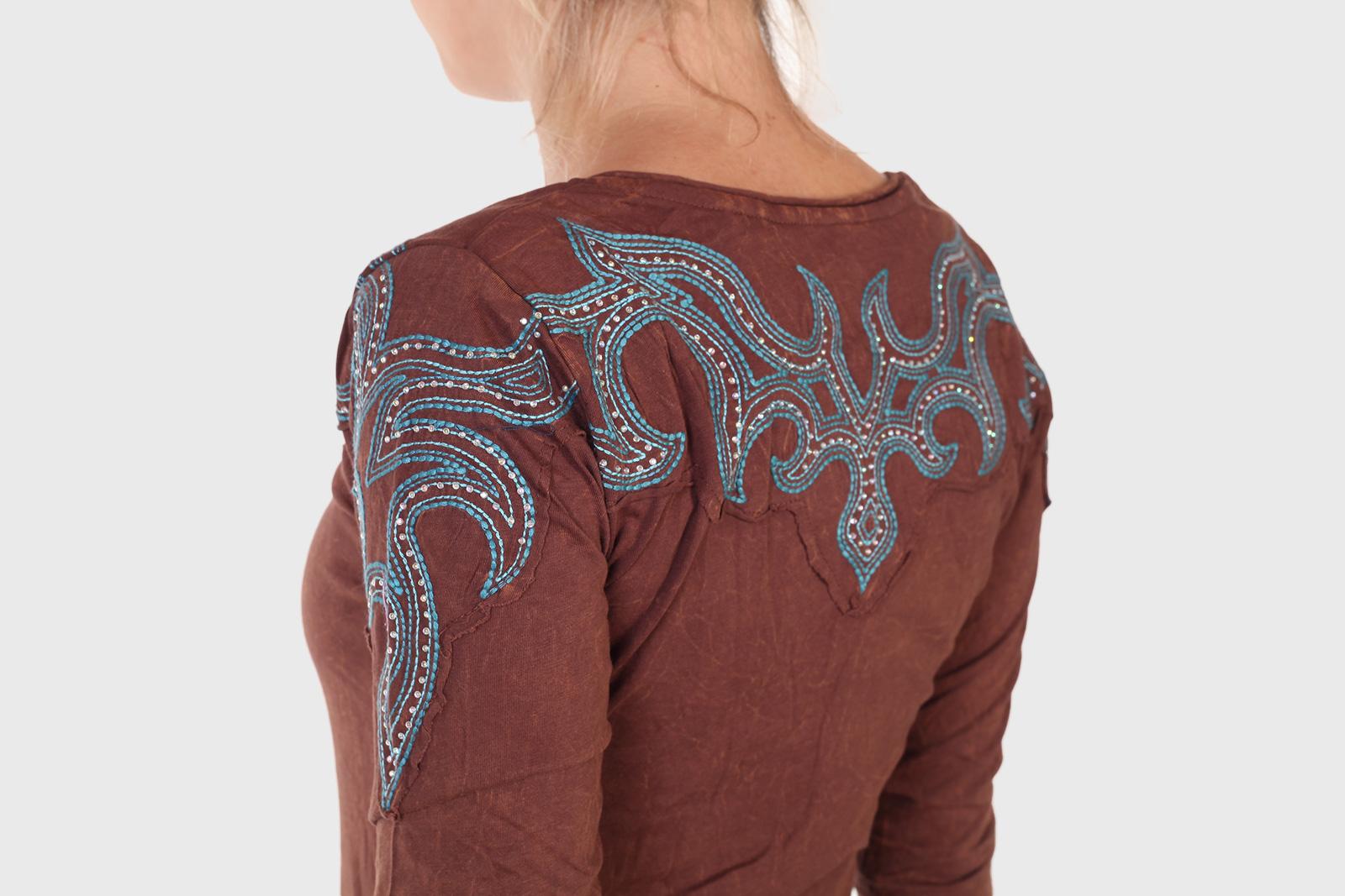 Хлопковая женская кофта Panhandle Slim с вышивкой и стразами