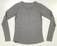 Женская кофточка серого цвета с длинным рукавом