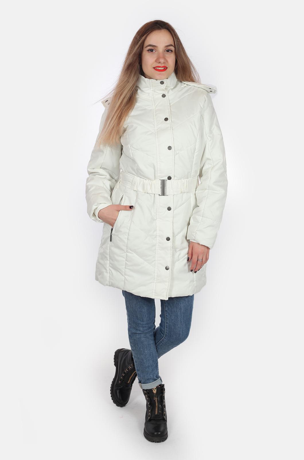 Длинная женская куртка с капюшоном