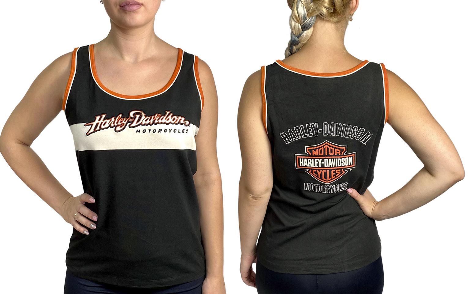 Женская майка с мото-принтом Harley-Davidson