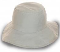 Женская шляпа с широкими полями. Белый цвет, натуральный хлопок