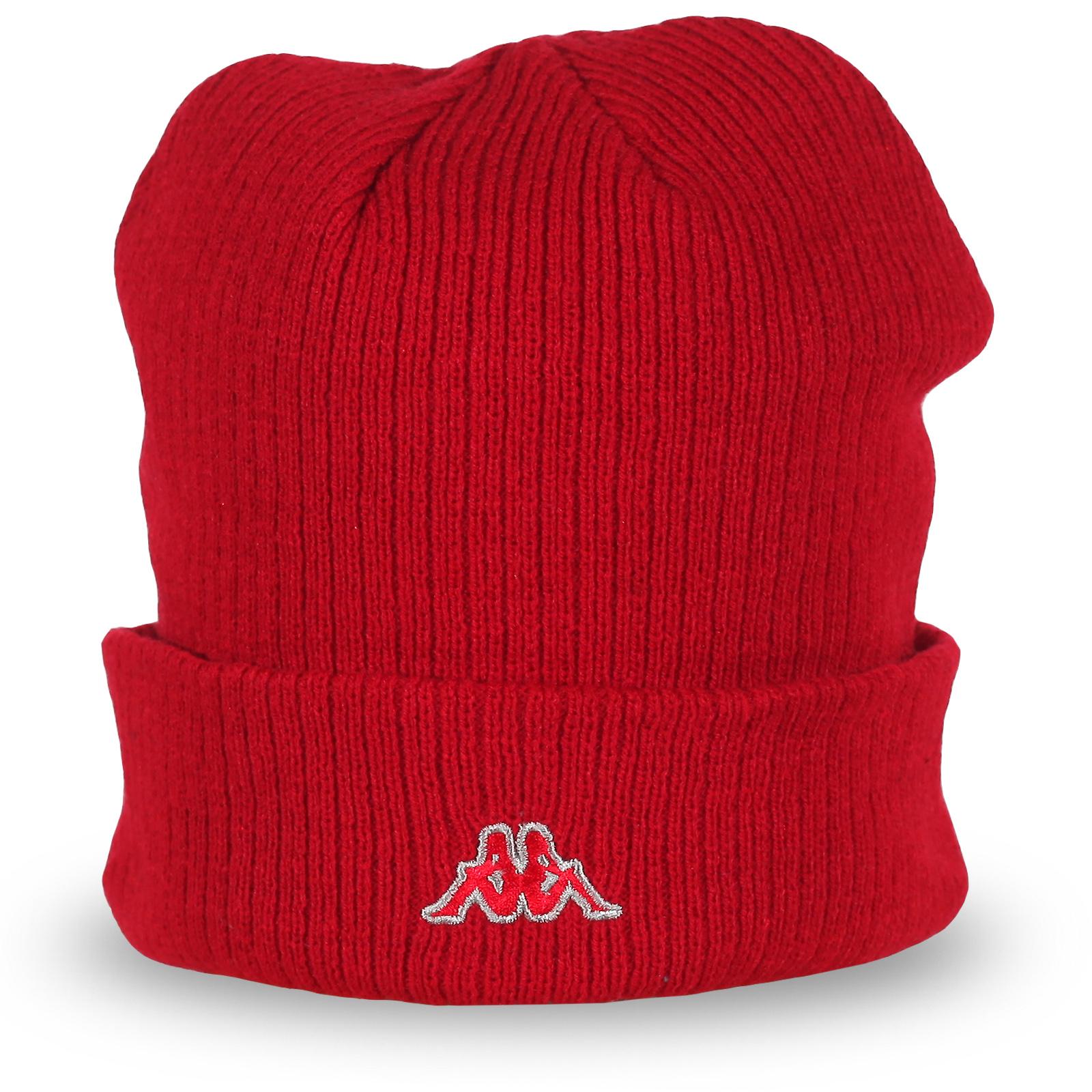 Шапка Kappa красного цвета