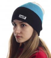 Женская шапка Neff в широкую полоску. Комфортная модель для спорта, отдыха и на каждый день