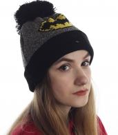 Женская шапка с изображением летучей мыши. Будь как Бэтмен и даже лучше!