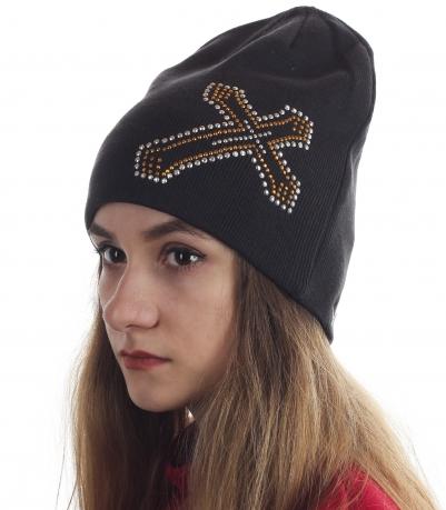 Женская шапка со стразами. Популярный головной убор на флисе. Модно и тепло!