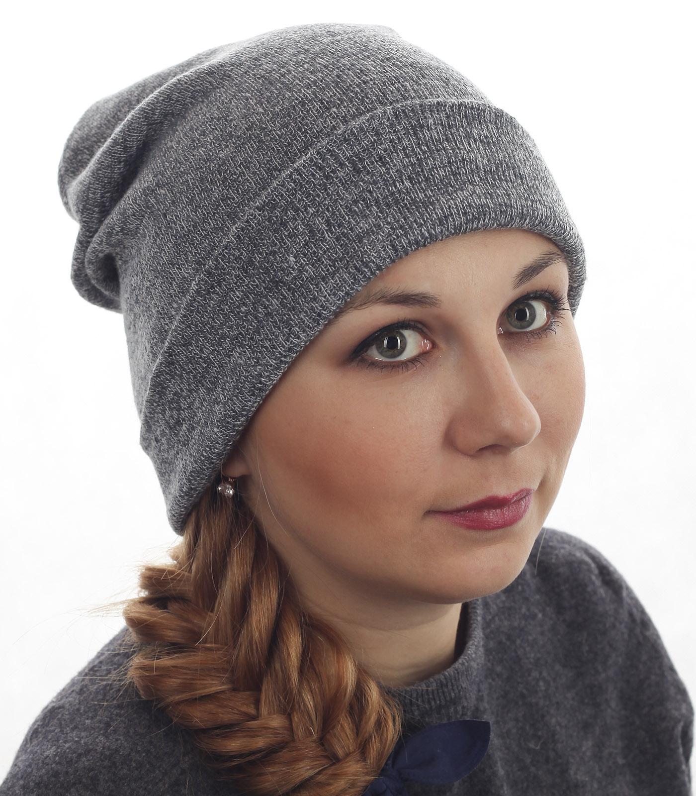 Женская шапка удлиненной формы. Модный дизайн, лаконичная модель с подворотом. Незаменима в гардеробе!