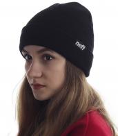 Женская шапочка Neff однотонного черного цвета