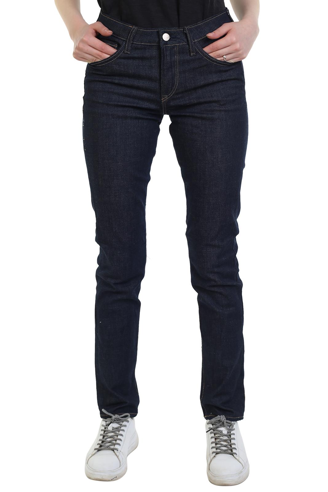 Купить дешево женские джинсы синего цвета