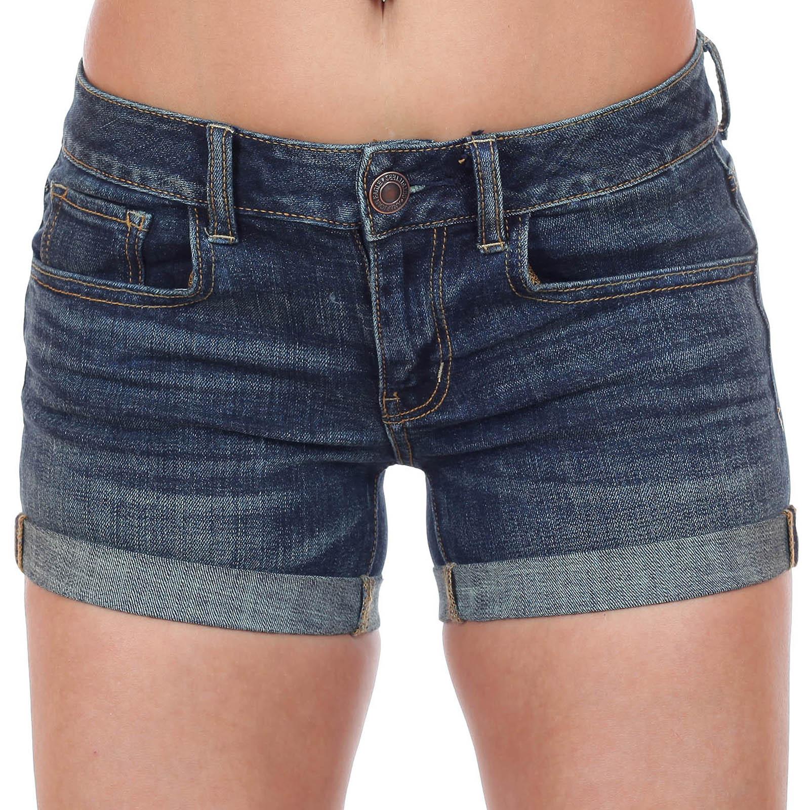 Женские джинсовые мини шорты