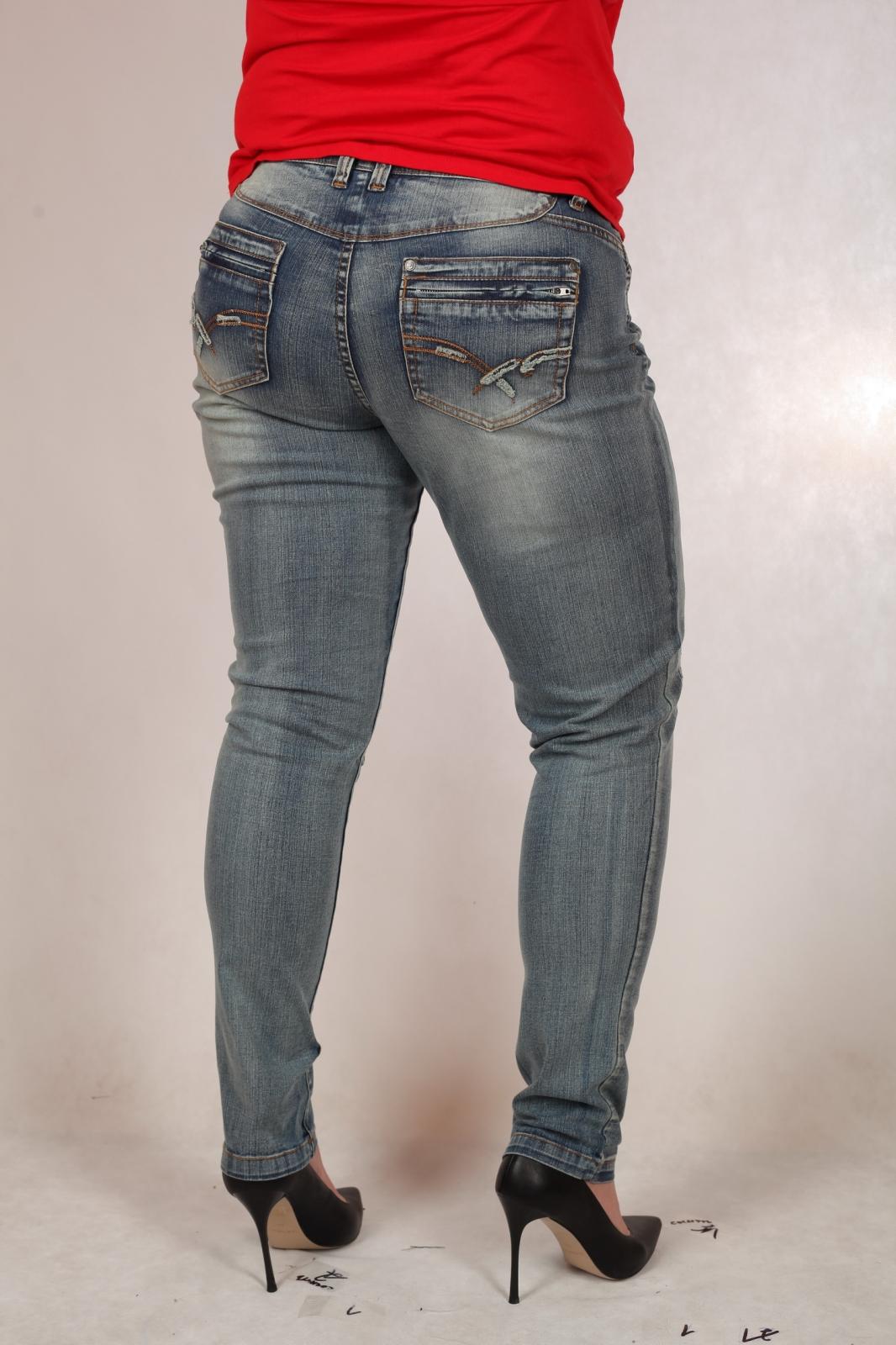 Женские джинсы СУПЕР БАТАЛЫ с потёртостями