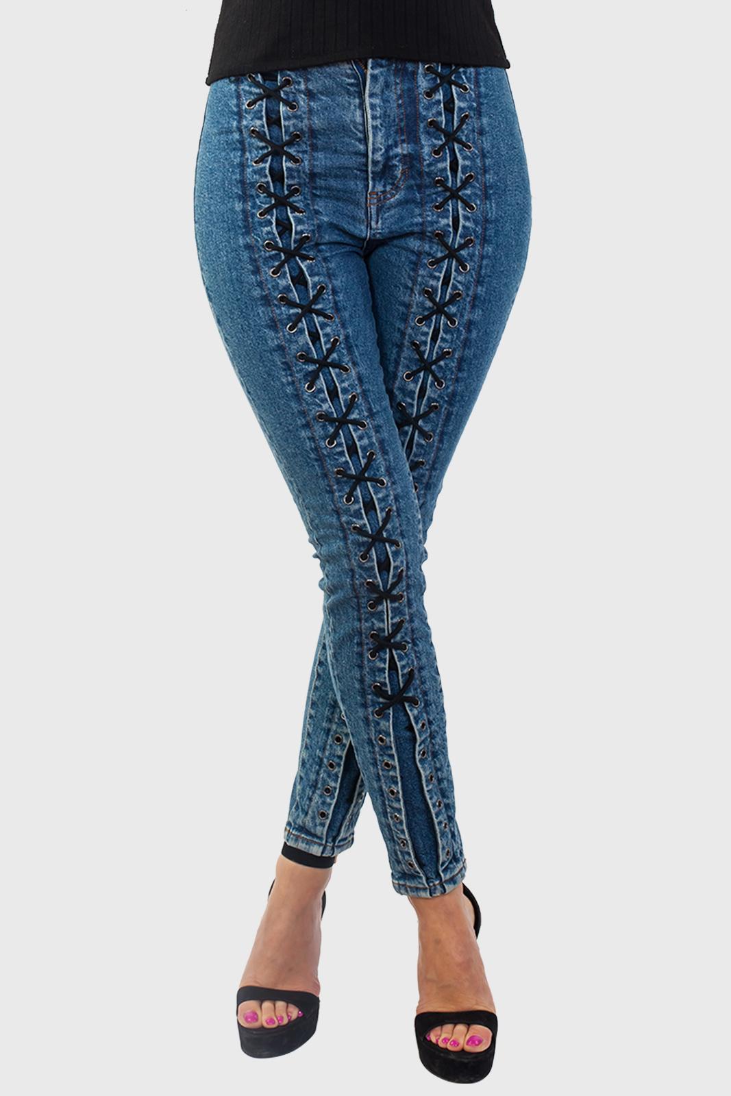 Купить джинсы со шнуровкой от Los Angeles Atelier